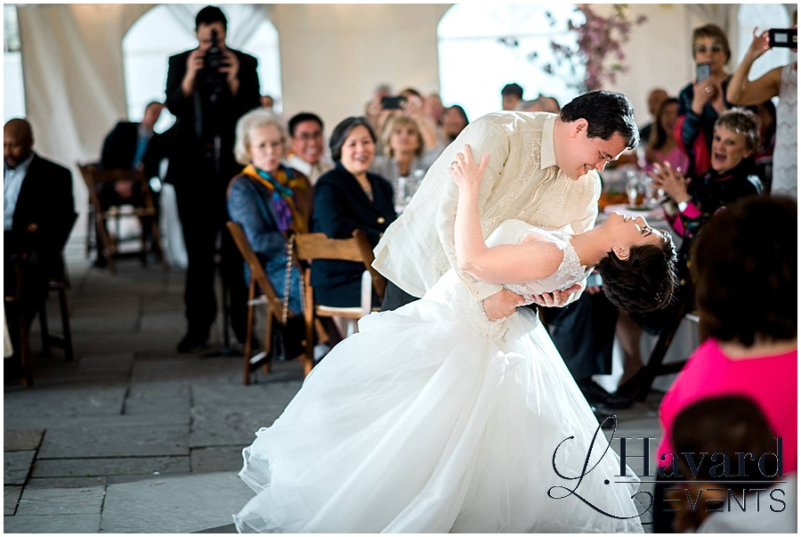 first-dance-river-farm-venue-dc-cherry-blossom-wedding-photo
